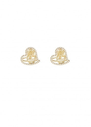 Vivienne Westwood Accessories Giuseppa Stud Earrings - Gold
