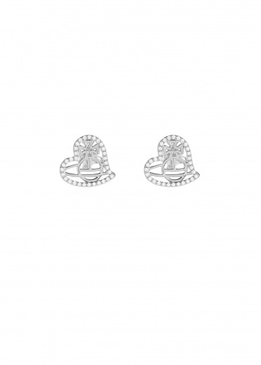 Vivienne Westwood Accessories Giuseppa Stud Earrings - Rhodium
