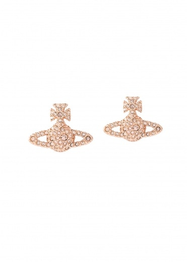 Vivienne Westwood Accessories Grace BR Stud Earrings G186 - Pink Gold / Peach
