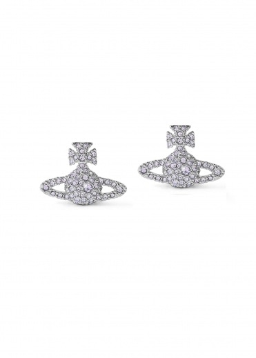Vivienne Westwood Accessories Grace BR Stud Earrings W287 - Rhodium / Violet