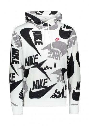 Nike Apparel Graphic Hoodie - White / Black
