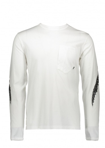Stone Island Shadow Project Graphic LS Tee - White