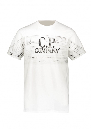 C.P. Company Graphic T Shirt - Gauze White