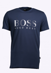 Hugo boss green rn t shirt dark navy hugo boss from for Hugo boss navy shirt