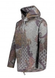 Engineered Garments Grey Paisley Hoody - Grey