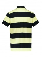 Harren Stripe Polo - Lemon Zest