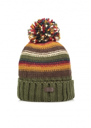 Barbour Harrow Stripe Beanie - Olive