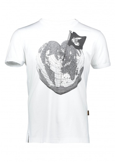 Vivienne Westwood Anglomania Heart World Print Tee - White