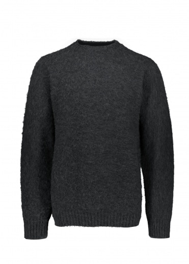 Shetland Woollen Co.  Heavy Pullover - Charcoal
