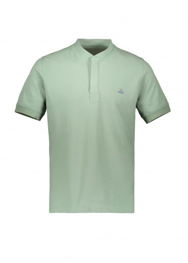 Vivienne Westwood Mens Henley Polo Light -Green