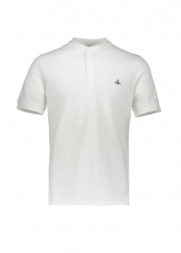 Vivienne Westwood Mens Henley Polo - White