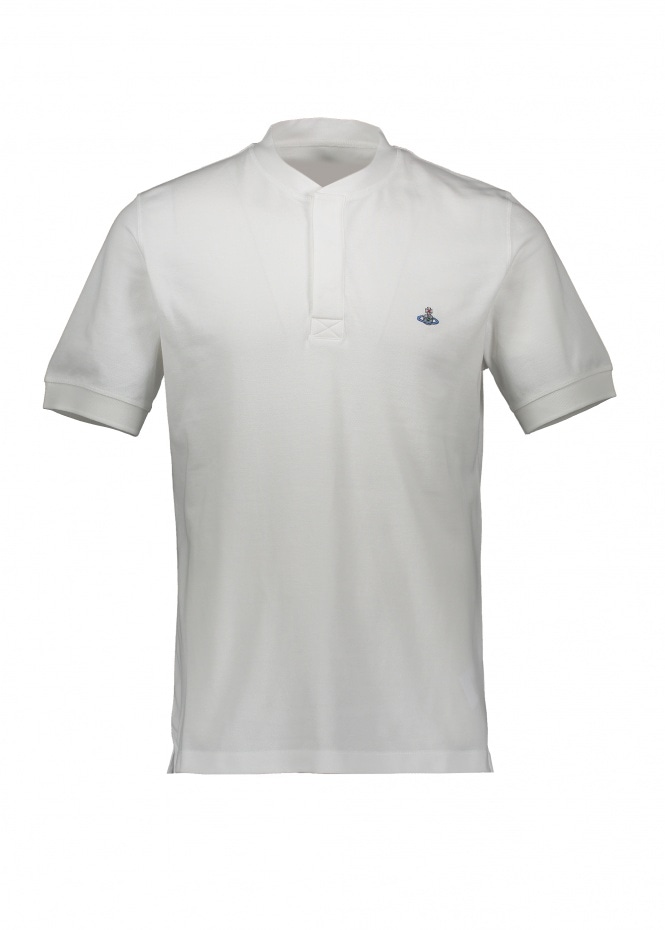 Henley Polo - White