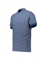Henley Stripe Polo - Blue / White