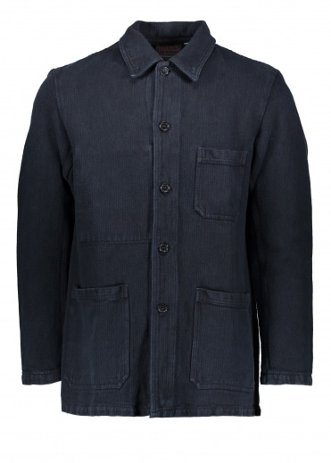 Vetra Herringbone Jacket - Navy