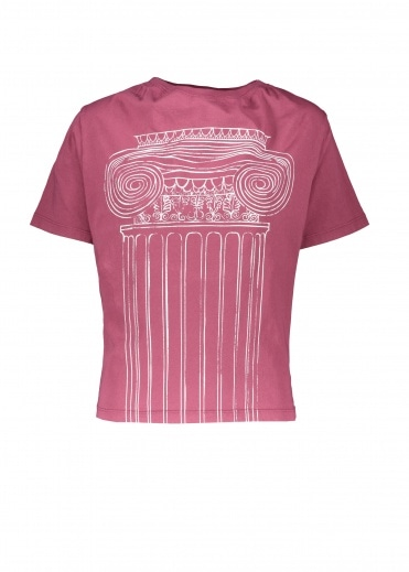 Vivienne Westwood Anglomania Historic T-Shirt Pillar Print - Beet Red