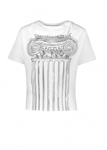 Vivienne Westwood Anglomania Historic T-Shirt Pillar Print - White