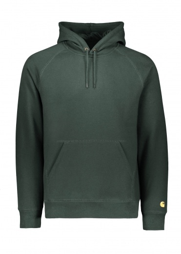 Carhartt Hooded Chase Sweat - Loden Gold