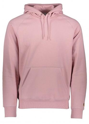 Carhartt Hooded Chase Sweat - Soft Rose / Gold