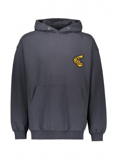 Vivienne Westwood Mens Hooded Pullover - Anthracite