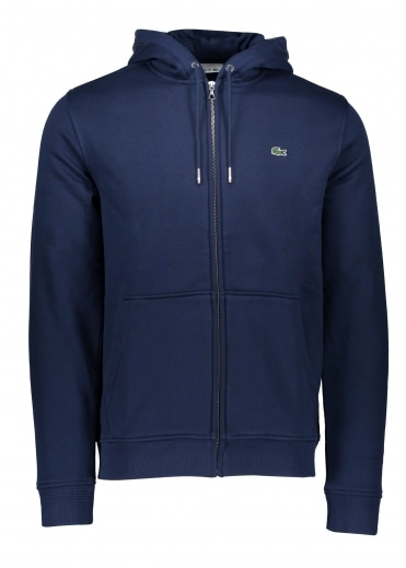 Lacoste Hooded Zip Jacket - Navy Blue