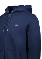 Hooded Zip Jacket - Navy Blue