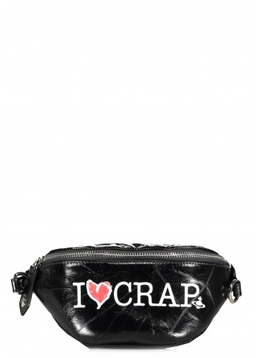 Vivienne Westwood Accessories I Love Crap Bum Bag - Black