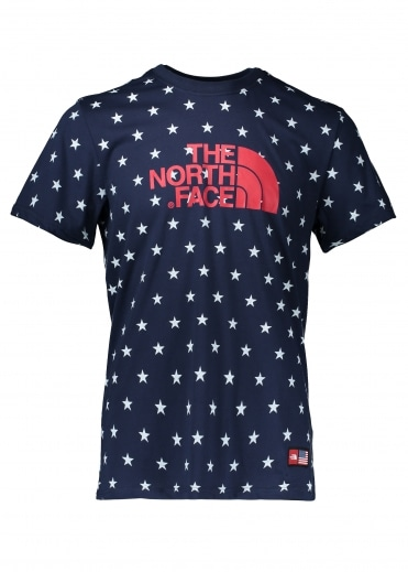 North Face IC All Over Print Tee - Cosmic Blue