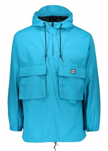 Obey Inlet Anorak - Pure Teal