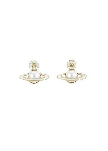 Vivienne Westwood Accessories Iris Bas Relief Earrings - Gold