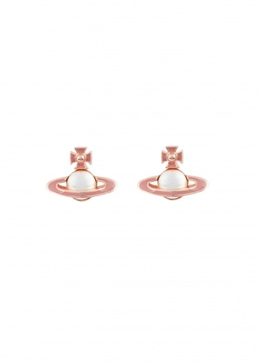 Vivienne Westwood Accessories Iris Bas Relief Earrings - Pink Gold