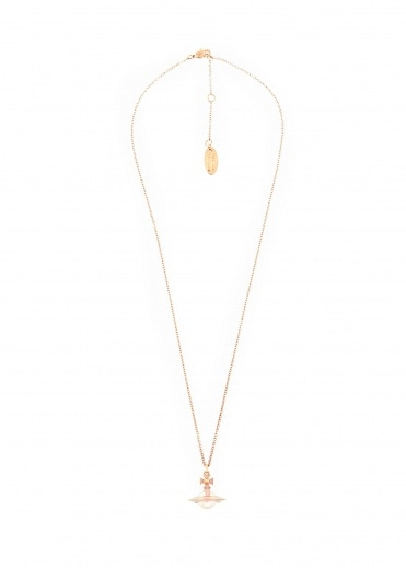 Vivienne Westwood Accessories Iris Small Orb Pendant - Pink Gold