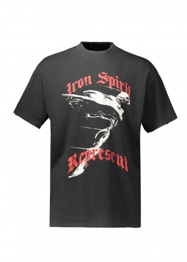 Represent Iron Spirit T-Shirt - Vintage Black