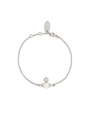 Isabelitta Bas Relief Bracelet - Rhodium / White