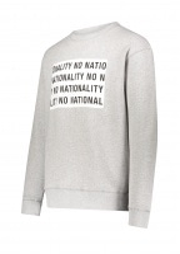 NN07 Jerome Print Sweat - Light Grey