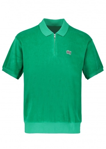 Obey Joe Zip Classic Polo - Growth Green