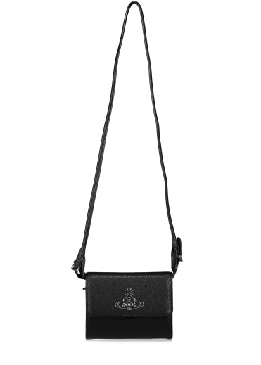 Vivienne Westwood Accessories Johanna Crossbody Wallet - Black