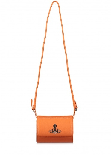 Vivienne Westwood Accessories Johanna Crossbody Wallet - Orange