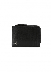 Vivienne Westwood Accessories Kent Zip Credit Card Holder - Black