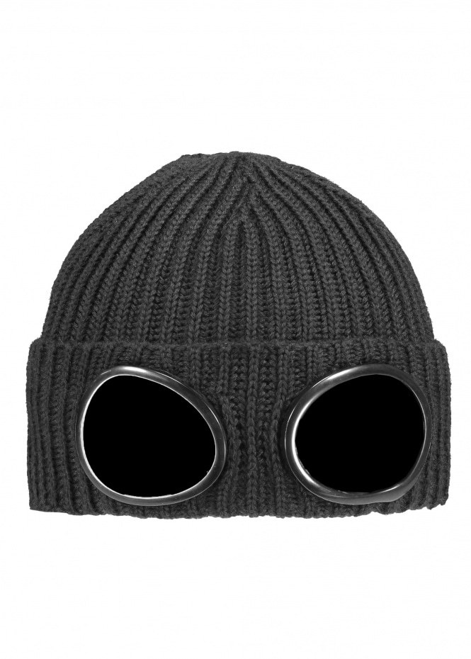C.P. Company Knit Goggle Hat 888 - Total Eclipse