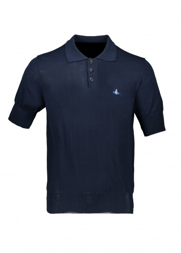 Vivienne Westwood Mens Knit Polo - Navy