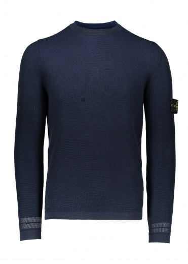 Stone Island Knit Sweat - Navy Blue