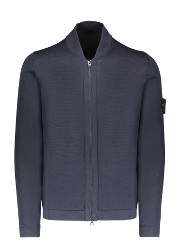 Stone Island Knitted Jacket - Navy Blue