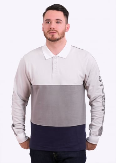 Stussy L/S Panel Pique Polo - Grey