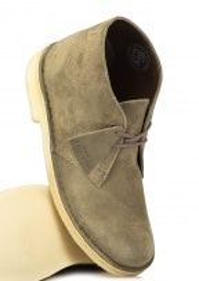 Clarks Originals Ladies Desert Boot Suede - Olive