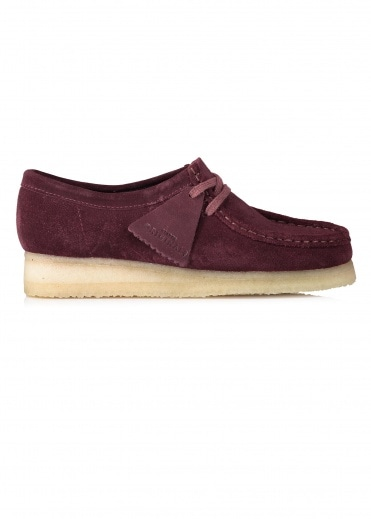 Clarks Originals Ladies Wallabee Suede - Burgundy