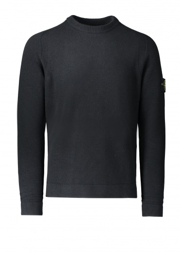 Stone Island Lambswool Knitted Jumper - Black