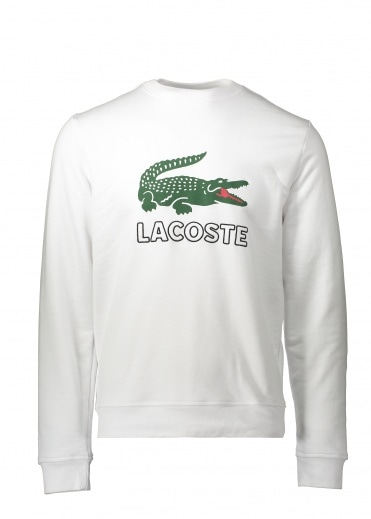 Lacoste Large Logo Sweat - White