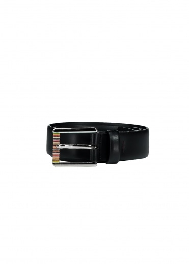 Paul Smith Leather Roller Belt - Black
