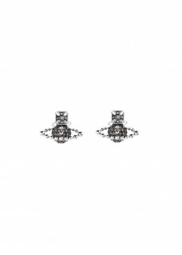 Vivienne Westwood Accessories Lena Bas Relief Earrings - Rhodium