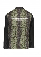 Leopard Panel Jacket - Black